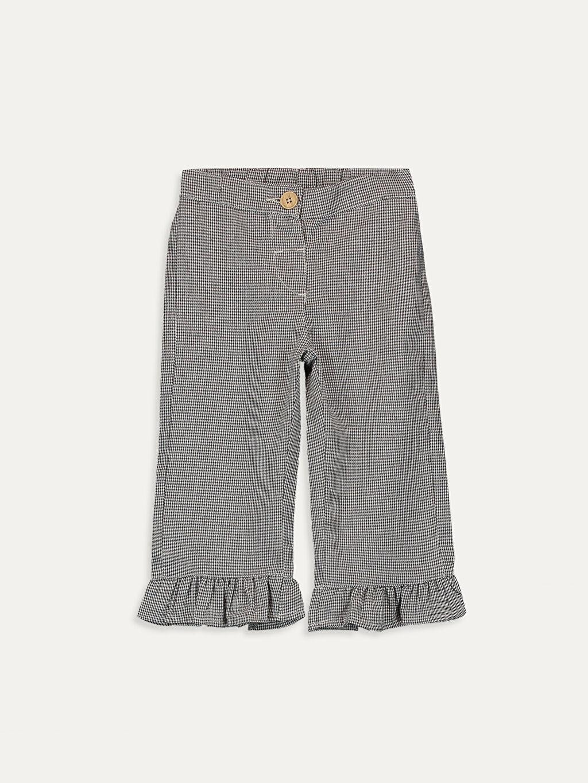 Siyah Kız Bebek Desenli Pantolon  9WI722Z1 LC Waikiki