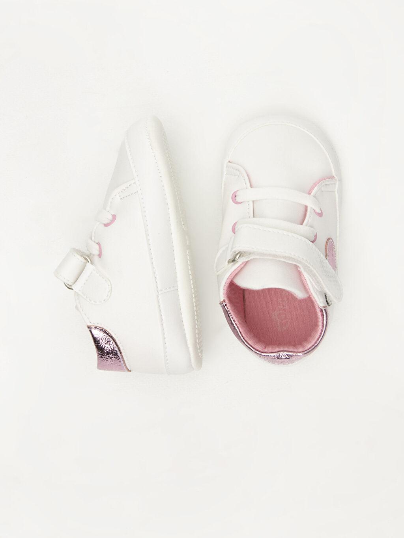 %0 Diğer malzeme (poliüretan) Işıksız Pamuk Astar Yürümeyen Cırt Cırt Kız Bebek Deri Görünümlü Ayakkabı