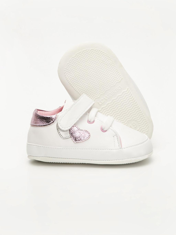 Kız Bebek Kız Bebek Deri Görünümlü Ayakkabı