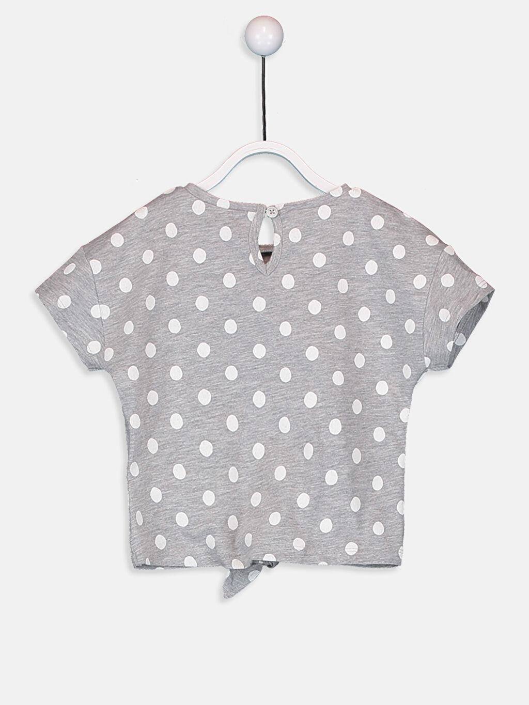 %68 Pamuk %32 Polyester Kısa Kol Penye Aksesuarsız Standart Baskılı Tişört Bisiklet Yaka Kız Bebek Minnie Mouse Baskılı Tişört