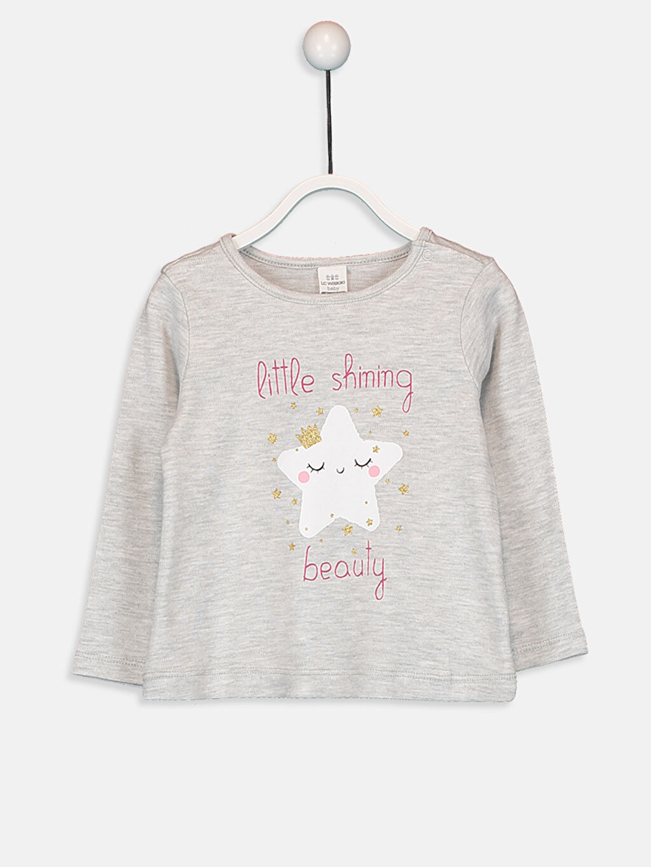 %98 Pamuk %2 Polyester %98 Pamuk %2 Polyester Standart Pijama Takım İnterlok Kız Bebek Baskılı Pijama Takımı 4'lü