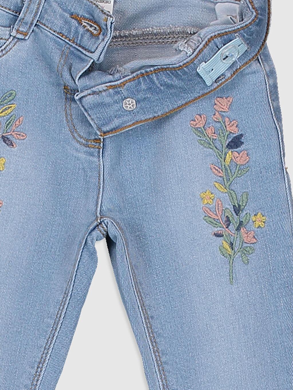Kız Bebek Kız Bebek Nakış Detaylı Jean Pantolon