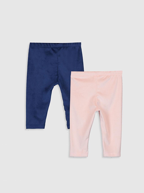 %93 Polyester %7 Elastan Pantolon Kız Bebek Tayt 2'li