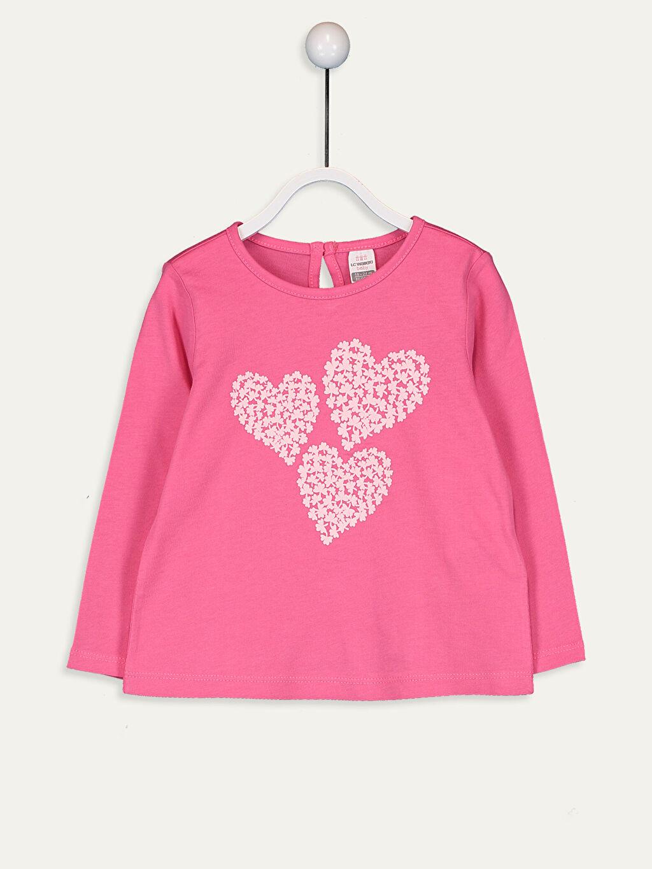 Pembe Kız Bebek Baskılı Pamuklu Tişört  9WK153Z1 LC Waikiki
