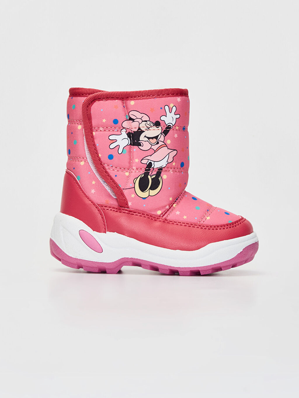Pembe Kız Bebek Minnie Mouse Baskılı Kalın Taban Bot 9WK647Z1 LC Waikiki