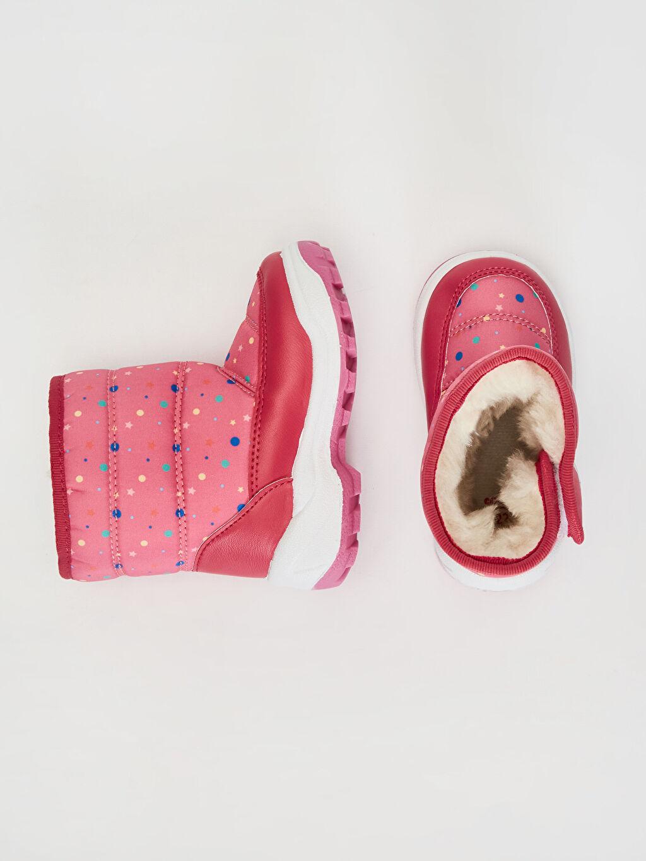 %0 Diğer malzeme (poliüretan) %0 Tekstil malzemeleri (%100 poliester) Kar Botu Cırt Cırt Işıksız Minnie Mouse Kürk Astar Kız Bebek Minnie Mouse Baskılı Kalın Taban Bot
