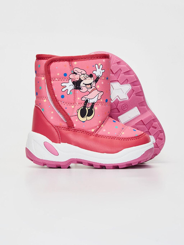 Kız Bebek Kız Bebek Minnie Mouse Baskılı Kalın Taban Bot