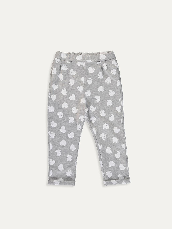 %49 Pamuk %51 Polyester İnce Sweatshirt Kumaşı Aksesuarsız Standart Baskılı Eşofman Altı Kız Bebek Desenli Eşofman Altı