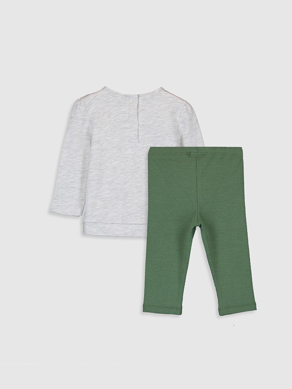 %98 Pamuk %2 Polyester %95 Pamuk %5 Elastan Yüksek Pamuk İçerir Takım Kız Bebek Tişört ve Tayt