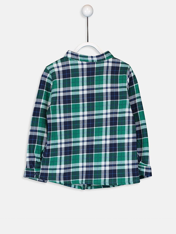 %100 Pamuk %100 Pamuk Uzun Kol Tam Pat Aksesuarsız Gömlek Ekose Gömlek Standart Astarsız Erkek Bebek Ekose Gömlek