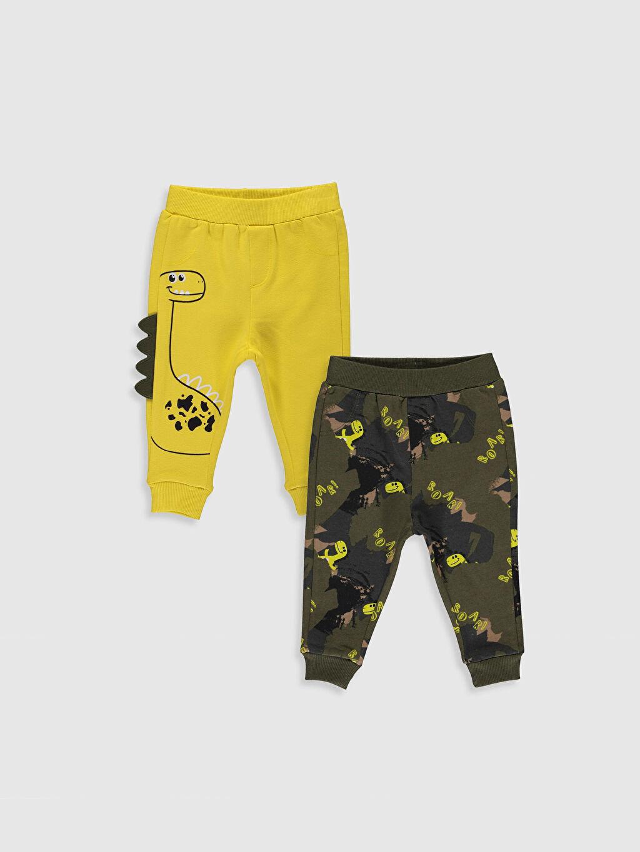 Sarı Erkek Bebek Jogger Pantolon 2'li 9WM107Z1 LC Waikiki