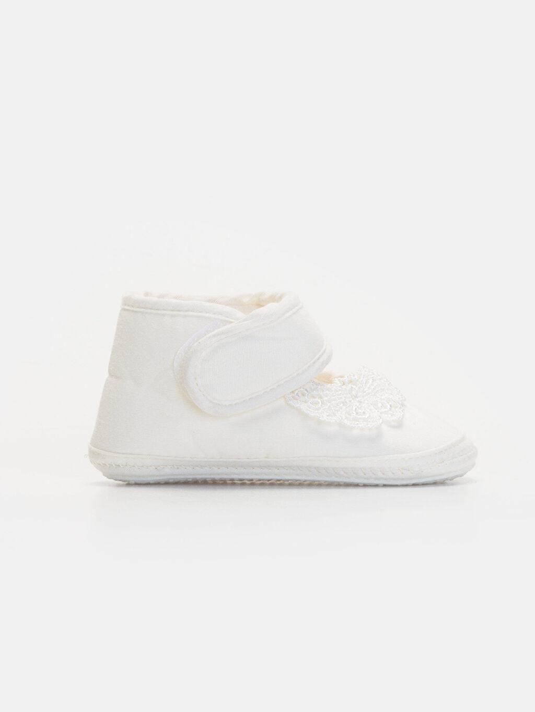 Beyaz Kız Bebek Cırt Cırtlı Ayakkabı 9WN311Z1 LC Waikiki