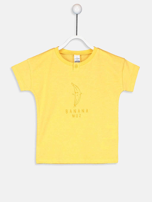 Sarı Erkek Bebek Pamuklu Tişört 9WN950Z1 LC Waikiki