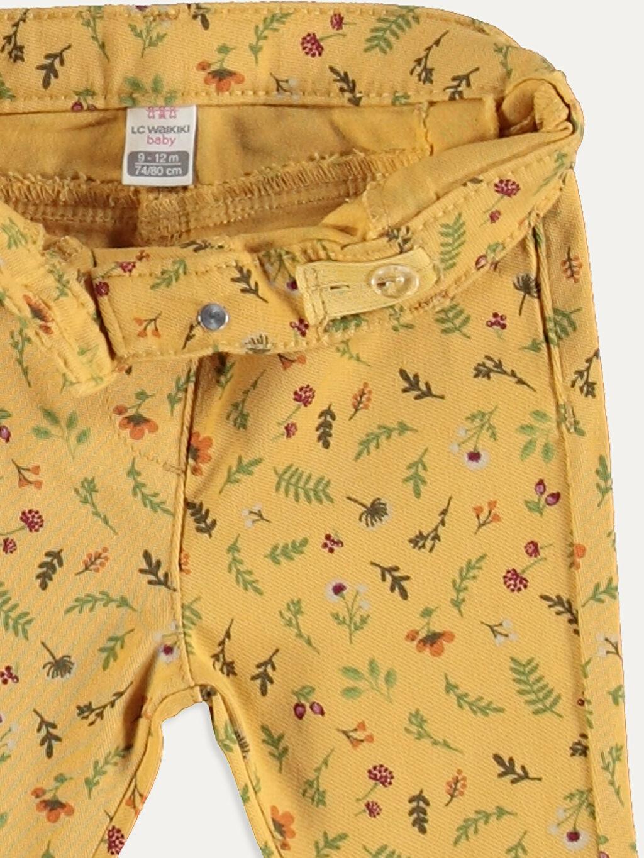 Kız Bebek Kız Bebek Desenli Poplin Pantolon