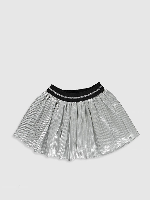 %100 Polyester %100 Pamuk Standart Etek Şık Kloş Düz Kız Bebek Viskon Etek