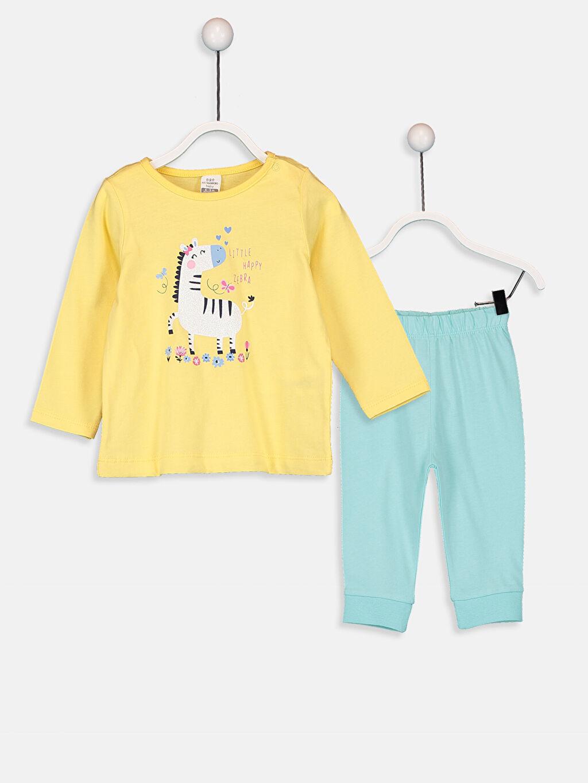 Sarı Kız Bebek Pijama Takımı 9WP265Z1 LC Waikiki