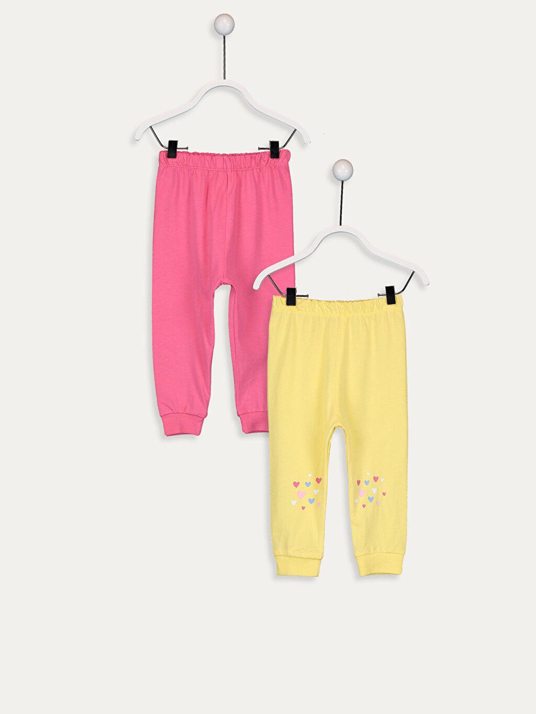 Pembe Kız Bebek Pamuklu Pijama Alt 2'li 9WP269Z1 LC Waikiki