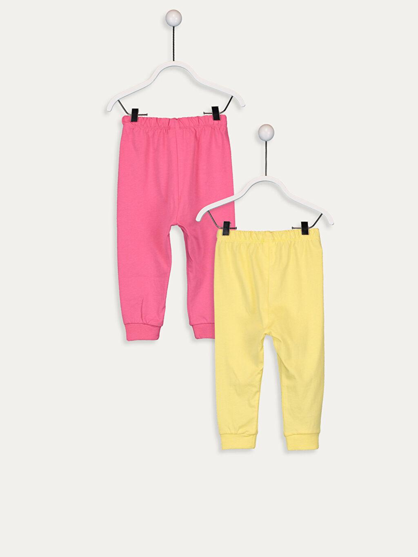 %100 Pamuk %100 Pamuk Penye Standart Pijama Alt Kız Bebek Pamuklu Pijama Alt 2'li
