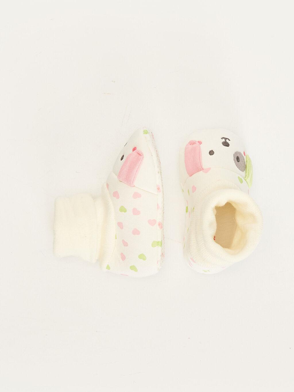 %0 Tekstil malzemeleri (%100 poliester) Işıksız Pamuk Astar Yürümeyen Diğer Kız Bebek Çoraplı Ev Ayakkabısı