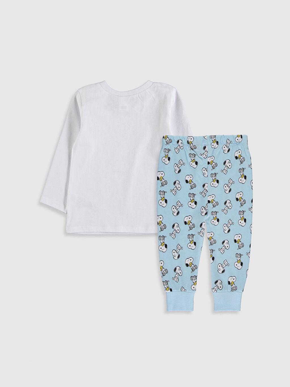 %100 Pamuk %100 Pamuk %100 Pamuk Standart Pijama Takım Penye Erkek Bebek Snoopy Baskılı Pijama Takımı
