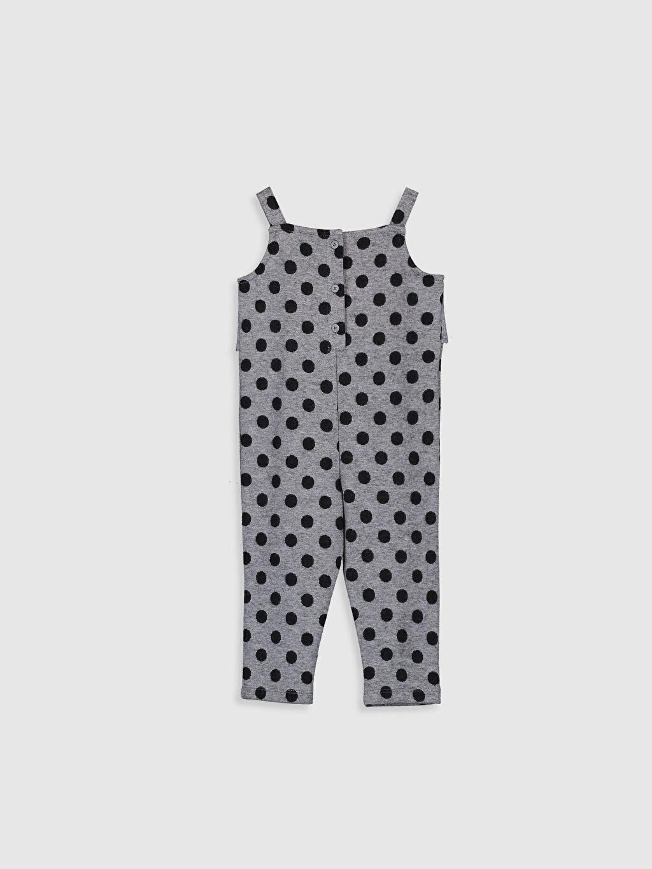 %80 Polyester %18 Viskoz %2 Elastan Aksesuarsız Standart Baskılı İnterlok Tulum Kız Bebek Puantiyeli Salopet