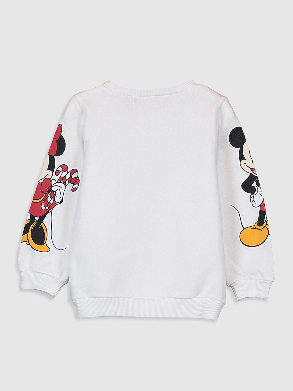 %91 Pamuk %9 Polyester Aksesuarsız Sweatshirt Standart Kapüşonsuz Bisiklet Yaka Kalın Sweatshirt Kumaşı Düz Kız Bebek Mickey ve Minnie Mouse Baskılı Sweatshirt