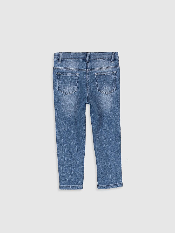 %98 Pamuk %2 Elastan Jean Düz Standart Normal Bel Astarsız Dar Kız Bebek Jean Pantolon