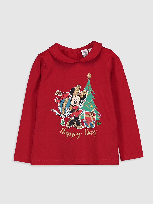Kırmızı Kız Bebek Minnie Mouse Baskılı Tişört  9WQ327Z1 LC Waikiki