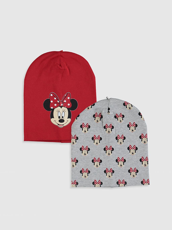 Kırmızı Kız Bebek Minnie Mouse Bere 2'li 9WQ333Z1 LC Waikiki