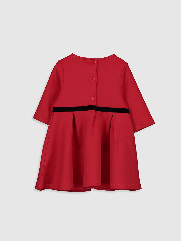%90 Polyester %10 Elastan Düz Astarsız Bisiklet Yaka İnterlok 3/4 Boy Elbise Aksesuarsız Kız Bebek Basic Elbise