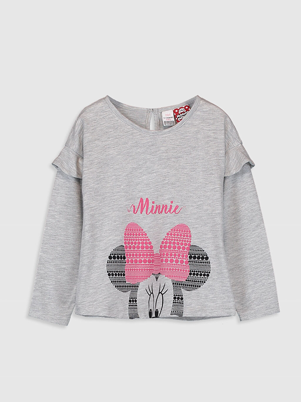 Gri Kız Bebek Minnie Mouse Baskılı Tişört  9WR397Z1 LC Waikiki