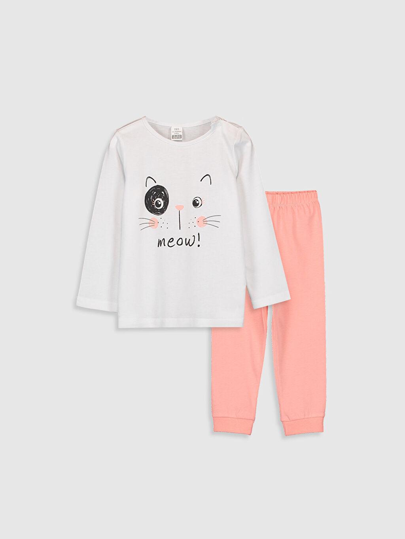 Beyaz Kız Bebek Baskılı Pijama Takımı 9WS423Z1 LC Waikiki