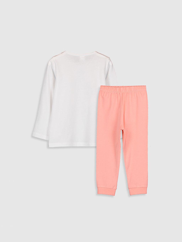 %100 Pamuk %100 Pamuk Uzun Kol %100 Pamuk Standart Pijama Takım Penye Kız Bebek Baskılı Pijama Takımı