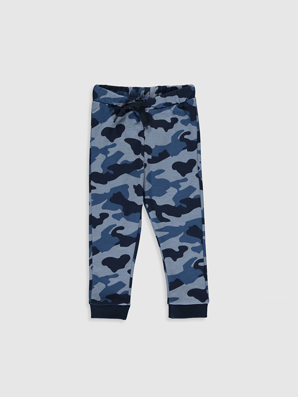 Mavi Erkek Bebek Kamuflaj Desenli Pantolon 9WS449Z1 LC Waikiki