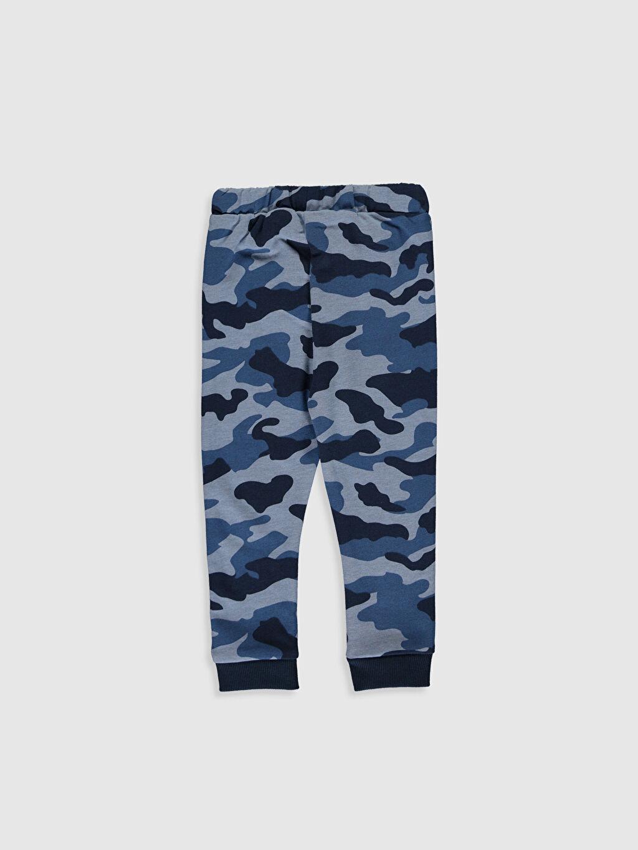 %57 Pamuk %43 Polyester Üç İplik İçi Tüylü Eşofman Altı Kalın Baskılı Erkek Bebek Kamuflaj Desenli Pantolon