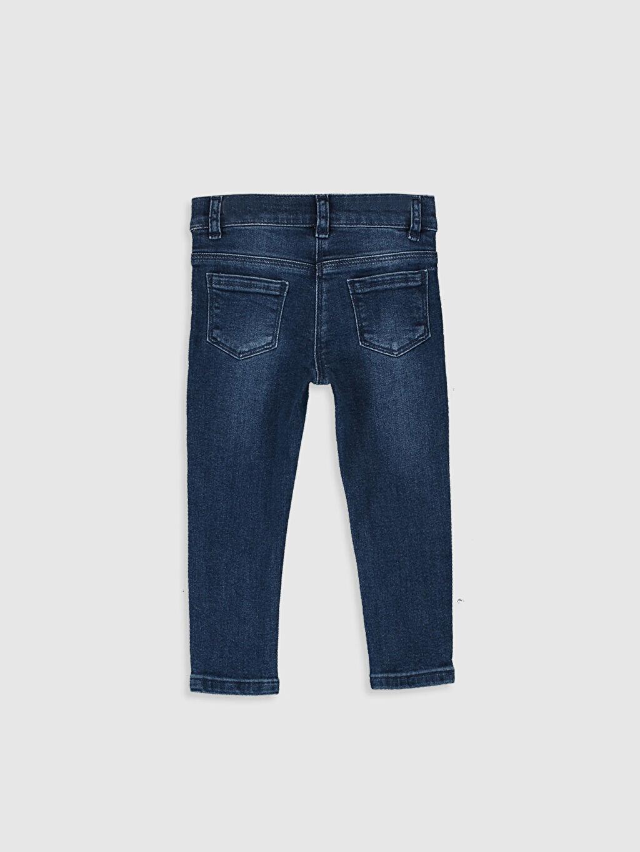 %99 Pamuk %1 Elastan Jean Düz Standart Normal Bel Astarsız Dar Kız Bebek Skınny Fıt Jean Pantolon