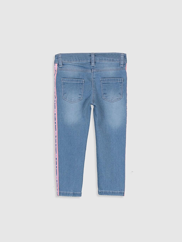 %99 Pamuk %1 Elastan Standart Standart Normal Bel Astarsız Jean Düz Kız Bebek Jean Pantolon