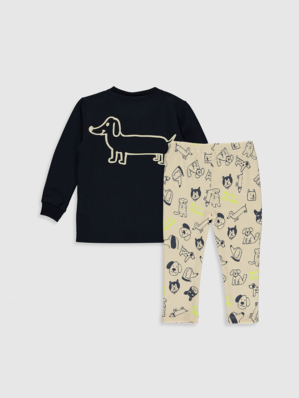 %95 Pamuk %5 Elastan %95 Pamuk %5 Elastan Günlük Düz Takım Kalın Sweatshirt Kumaşı Aksesuarsız Kalın Standart Uzun Kol Erkek Bebek Desenli Sweatshirt ve Pantolon