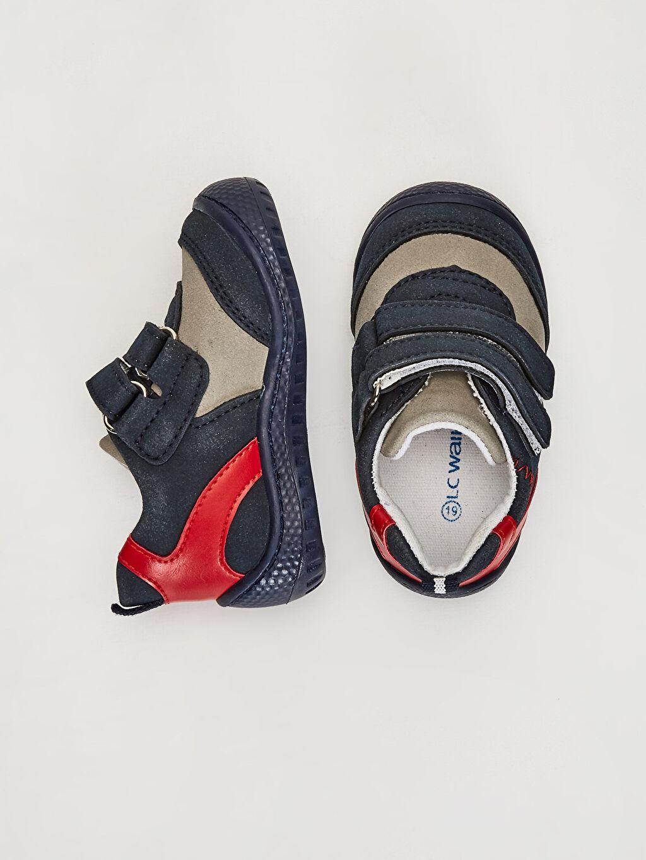 Diğer malzeme (poliüretan) Tekstil malzemeleri İlk Adım Ayakkabısı Bağcık ve Fermuar Kısa Spiderman Anatomik Tabanlı İlk Adım Ayakkabısı