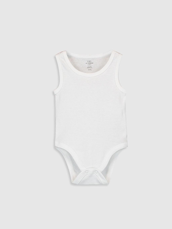 Ekru Erkek Bebek Çıtçıtlı Body 9WU178Z1 LC Waikiki