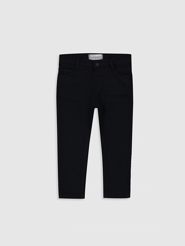 Siyah Erkek Bebek Skınny Fit Pantolon 9WU458Z1 LC Waikiki