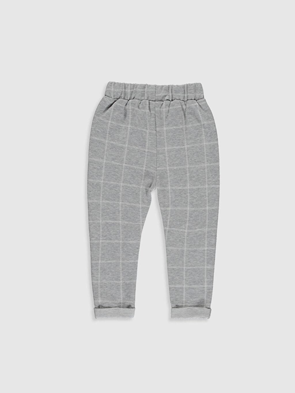 %55 Pamuk %43 Polyester %2 Elastan Günlük Eşofman Altı Çizgili Kalın Standart Erkek Bebek Ekose Jogger Pantolon