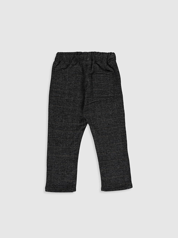 %65 Polyester %3 Elastan %32 Viskon Aksesuarsız Bol Astarsız Pantolon Erkek Bebek Ekose Kalın Pantolon