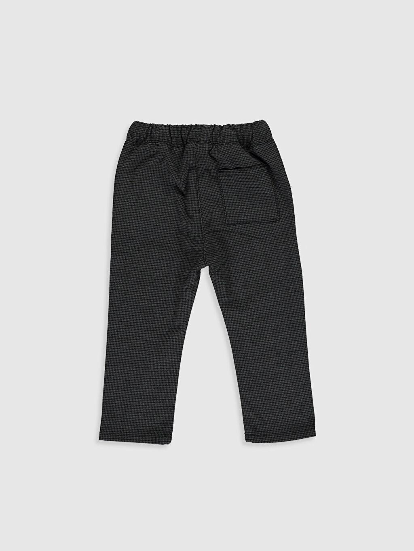 %65 Polyester %3 Elastan %32 Viskon Aksesuarsız Astarsız Pantolon Erkek Bebek Ekose Kalın Pantolon