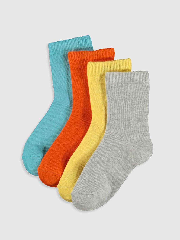 Çok Renkli Erkek Bebek Soket Çorap 4'lü 9WV440Z1 LC Waikiki