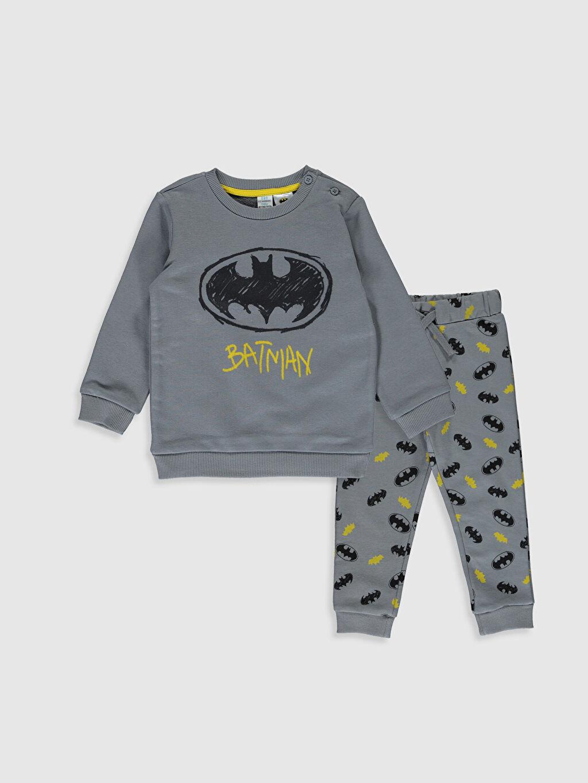Gri Erkek Bebek Batman Baskılı  Takım 2'li  9WV720Z1 LC Waikiki