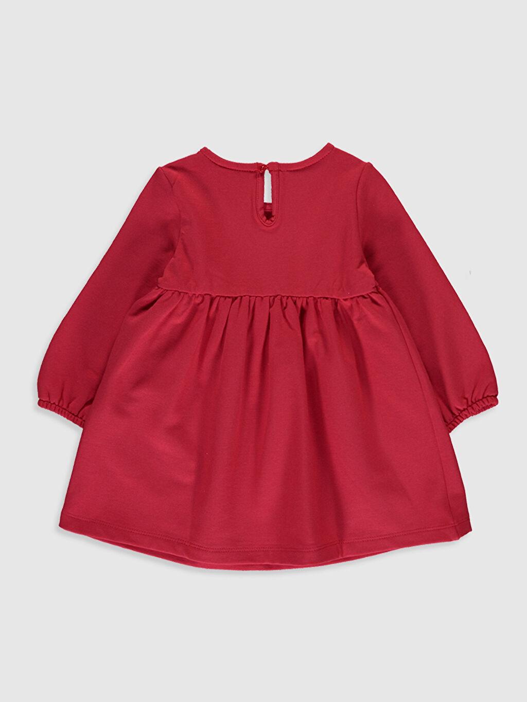 %30 Pamuk %62 Modal %8 Elastan Aksesuarsız Astarsız Bisiklet Yaka Elbise Kalın Sweatshirt Kumaşı Uzun Kol Düz Kız Bebek Basic Elbise