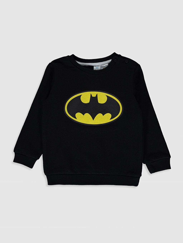Siyah Erkek Bebek Batman Desenli Sweatshirt 9WY380Z1 LC Waikiki