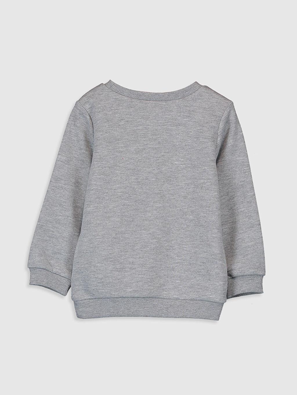 %45 Pamuk %55 Polyester Düz Aksesuarsız Sweatshirt Standart Kapüşonsuz Bisiklet Yaka Kalın Sweatshirt Kumaşı Kız Bebek Baskılı Sweatshirt