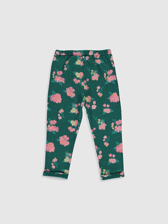 %100 Pamuk %100 Pamuk Eşofman Altı Penye Aksesuarsız Standart Baskılı Kız Bebek Desenli Pantolon